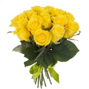 Solare bouquet di rose gialle