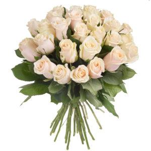 Elegante bouquet di rose avorio
